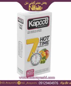 کاندوم کاپوت 12 عددی فروتی تایم یک ساعته 7 کاره گرم